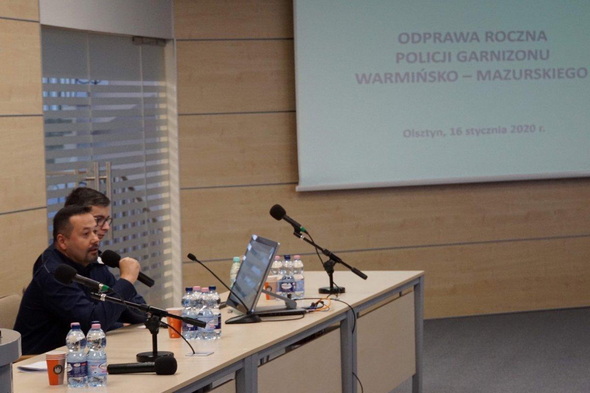 Uczestnicy odprawy rocznej KWP w Olsztynie Uczestnicy odprawy rocznej KWP w Olsztynie